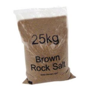 DRY BROWN ROCK SALT 25KG BAG PK20