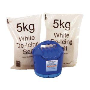 HANDHELD SALT SHAKER AND 2 X 5KG SALT