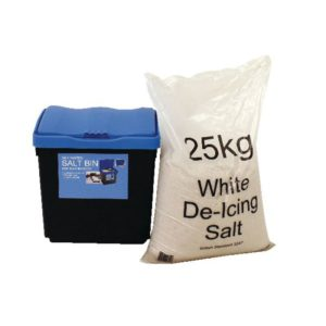 30 LITRE GRIT BIN 25KG SALT KIT
