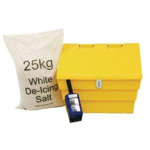 50L LOCKABLE GRIT BIN 25KG SALT KIT