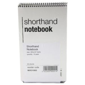 WB SHORTHAND NOTEBOOK 80LF