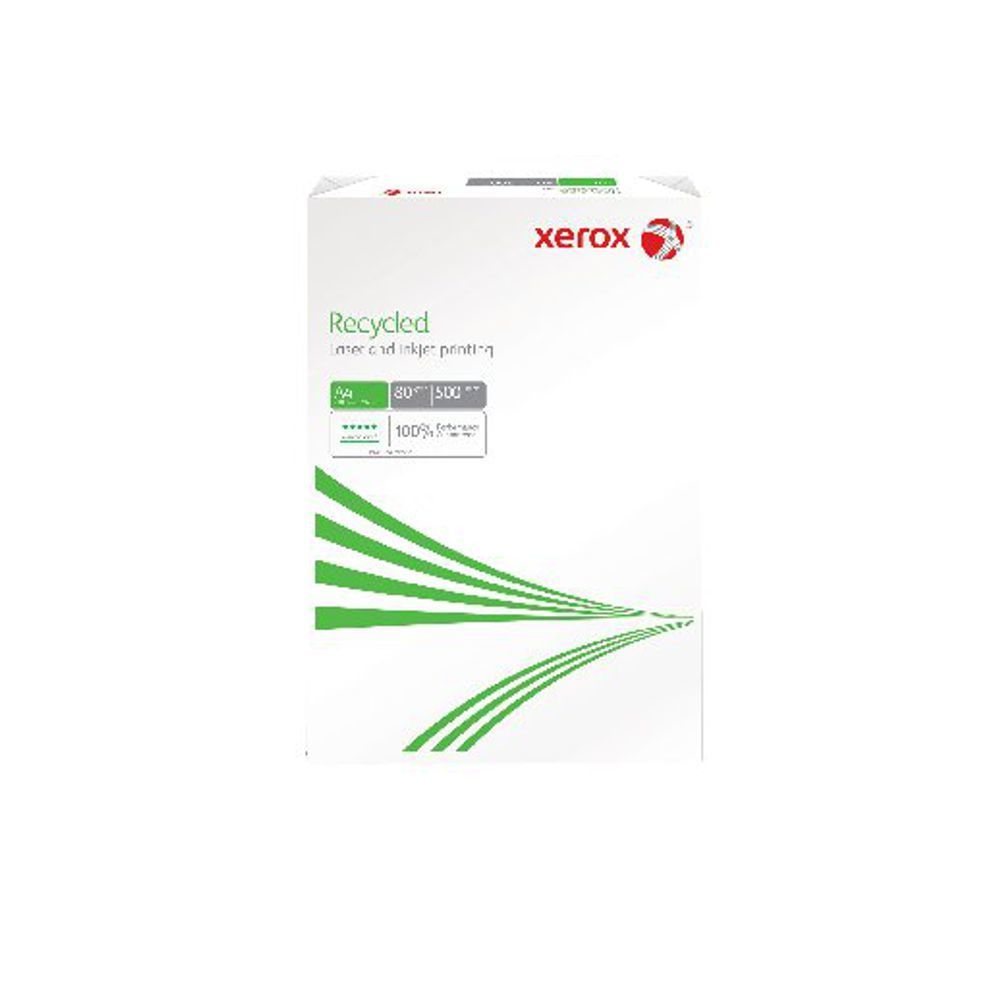 XEROX RECYCLED PAPER A4 80GSM WHITE REAM