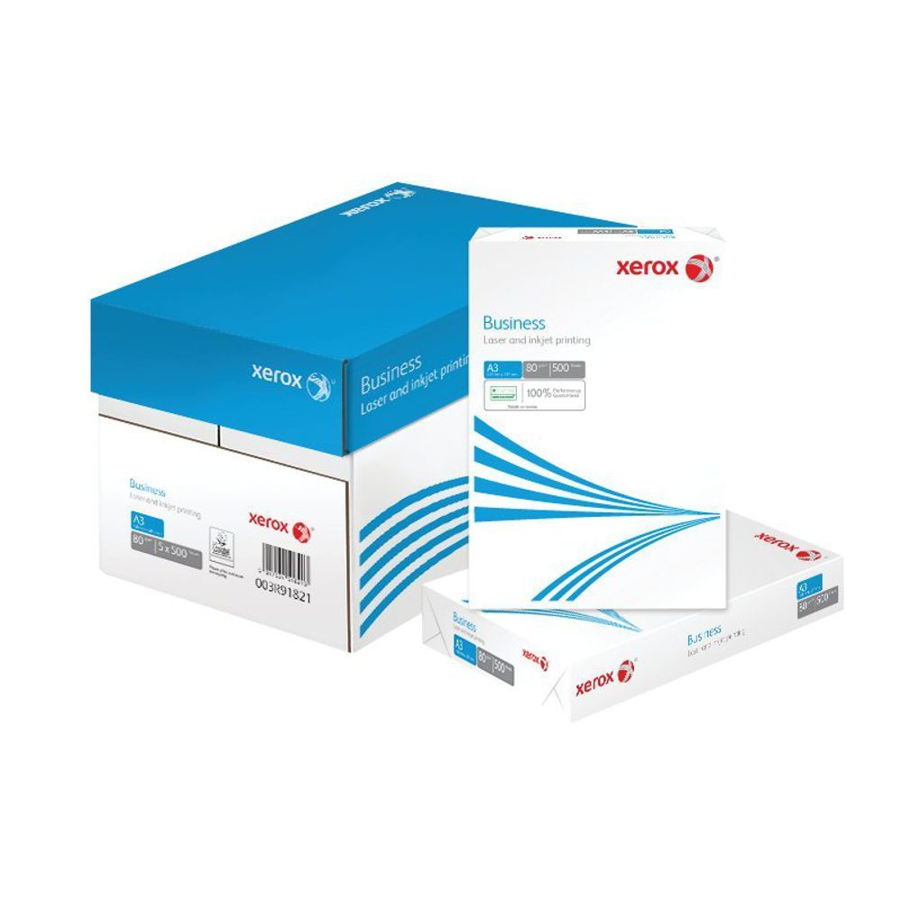 XEROX BUSINESS PAPER A3 80GSM WHT REAM