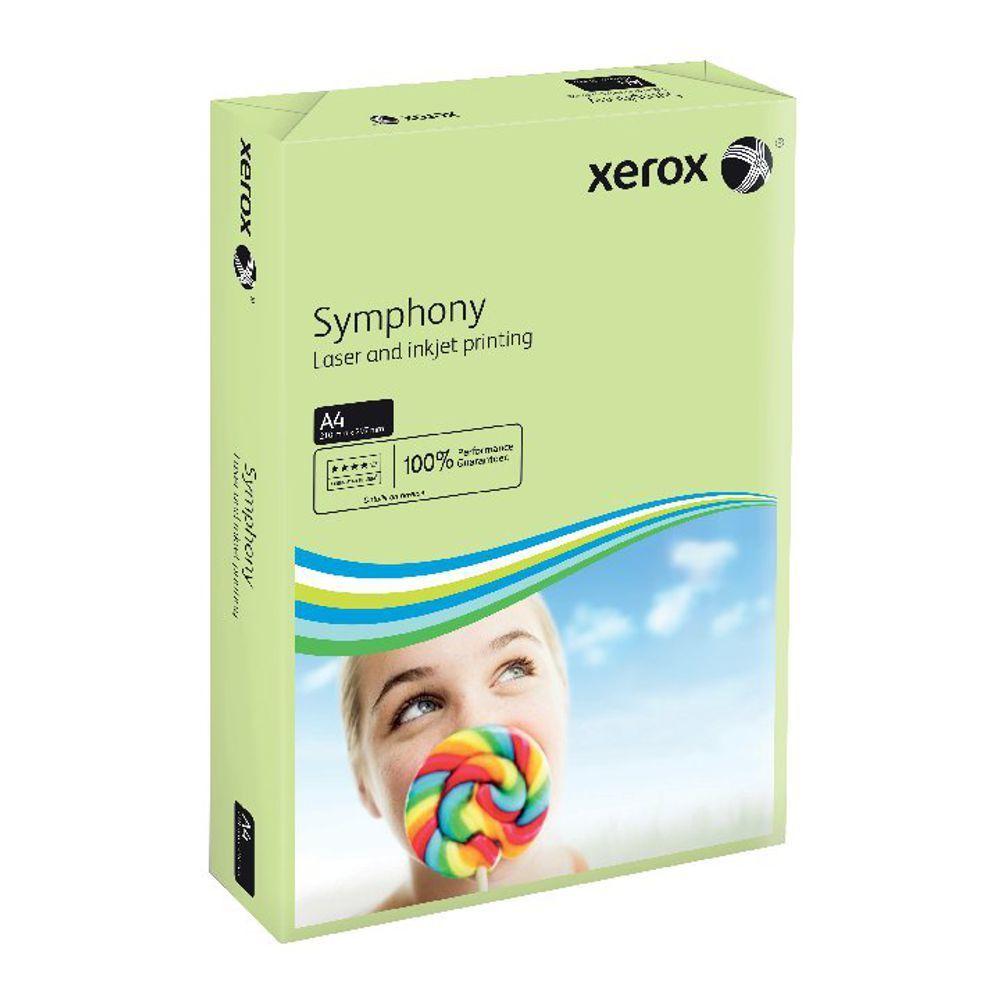 XEROX SYMPHONY A4 160GSM PSTL GRN 250PK