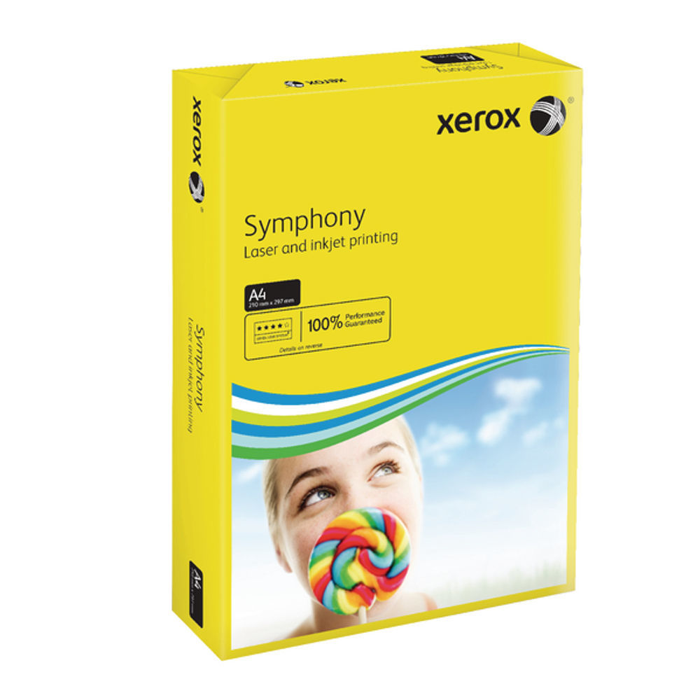 XEROX SYMPHONY A4 80GSM DEEP YLW PK500