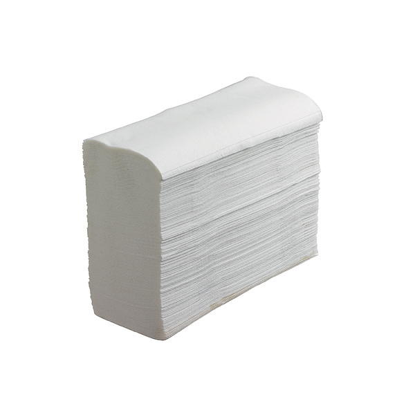 White Scott multifold hand towels in a stack