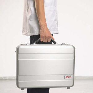 Hard aluminium carry case for Seca ECG units